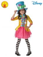MAD HATTER GIRLS DELUXE COSTUME - SIZE 3-5
