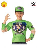 JOHN CENA COSTUME TOP AND HAT - CHILD 6+